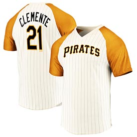 Pittsburgh Pirates Clemente Career High V Neck Tee