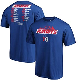 Philadelphia 76ers Team Roster Playoff Tee