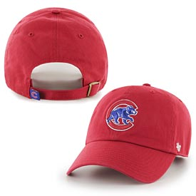 Chicago Cubs Walking Bear Red Clean Up Adjustable Cap