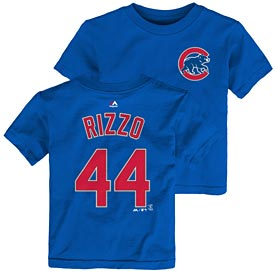 Chicago Cubs Anthony Rizzo Toddler Name and Number T-Shirt