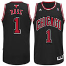Chicago Bulls Derrick Rose Alternate Black Swingman Jersey