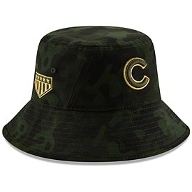 Chicago Cubs 2019 Armed Forces Day Bucket Hat