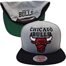 Chicago Bulls Gray XL Logo Two-Tone Adjustable Cap