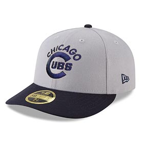 Chicago Cubs Grey Cooperstown Low Profile 59/50 Fitted Cap