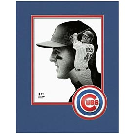 Chicago Cubs Anthony Rizzo Logo Matte 8X10 Photo