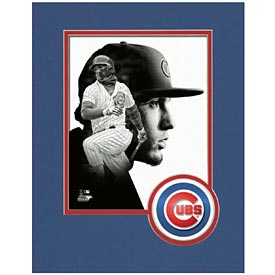 Chicago Cubs Javier Baez Logo Matte 8X10 Photo