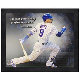 Chicago Cubs Javier Baez 11X14 Quote Photo