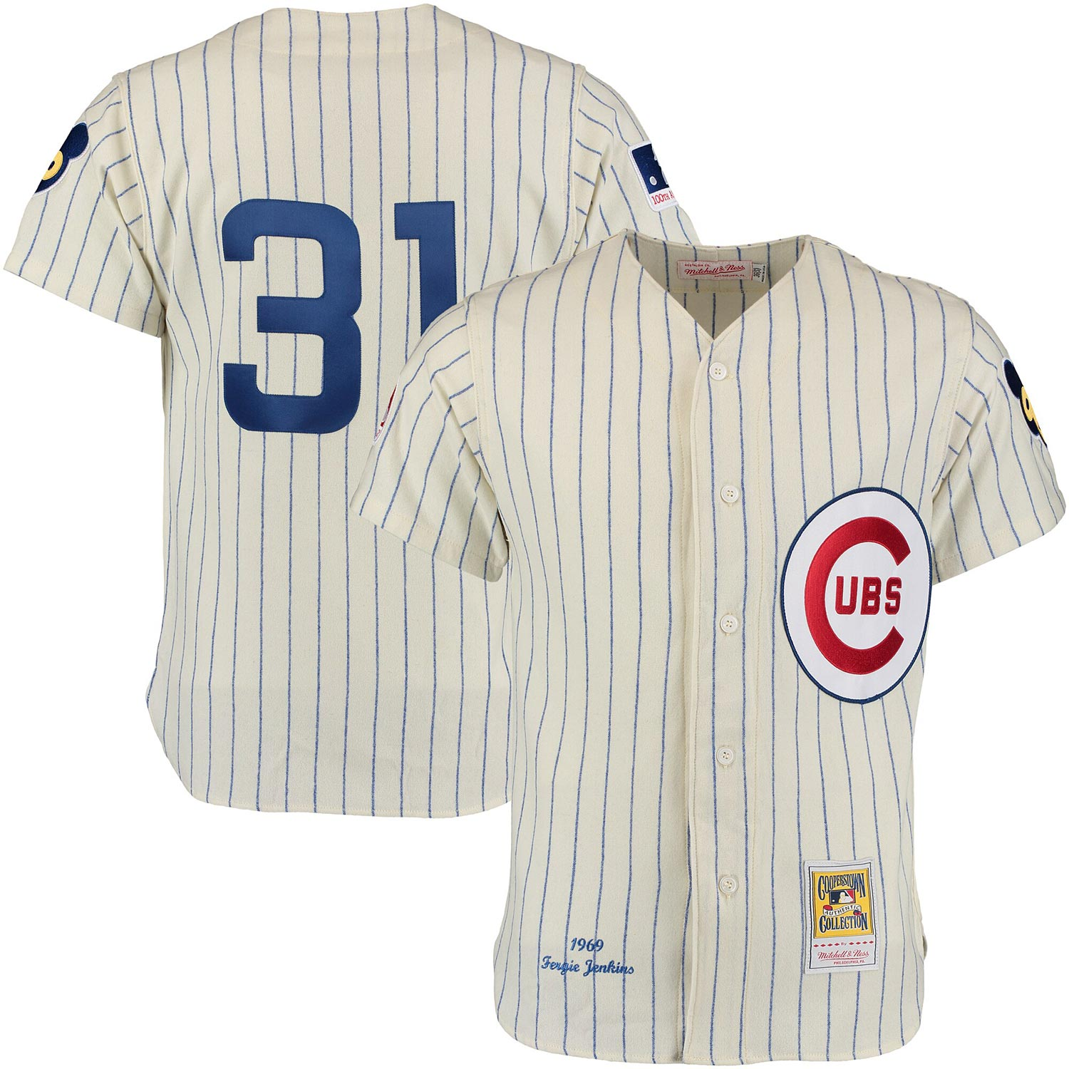 Chicago Cubs Authentic 1969 Fergie Jenkins Home Jersey