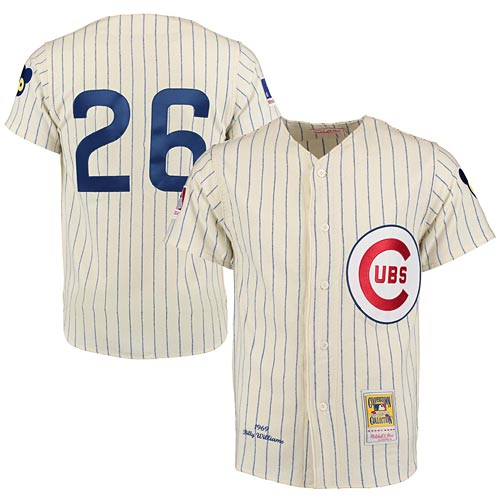 Chicago Cubs Authentic 1969 Billy Williams Home Jersey