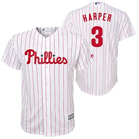 Philadelphia Phillies Preschool Bryce Harper Home Screen Print Cool Base Replica Jersey