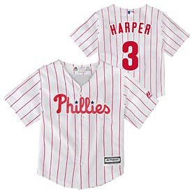 Philadelphia Phillies Toddler Bryce Harper Screen Print Home Cool Base Replica Jersey