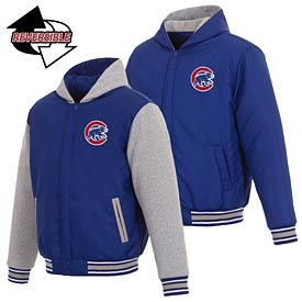 Chicago Cubs Fleece Hooded Reversible Jacket