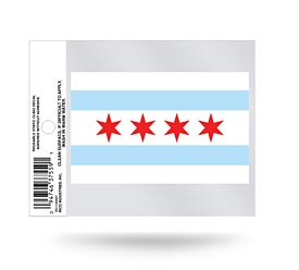 Chicago Flag Static Cling