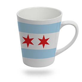 Chicago Flag Latte Mug