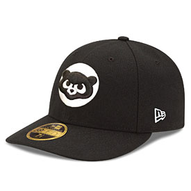 Chicago Cubs 1984 Black/White Low Profile 59/50 Fitted Cap
