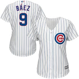 Chicago Cubs Javier Baez Ladies Home Cool Base Replica Jersey