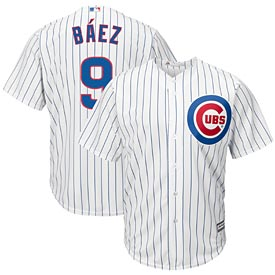 Chicago Cubs Javier Baez Home Cool Base Replica Jersey