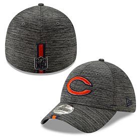 Chicago Bears 2019 Graphite Performance Training 39 Thirty Flex Fit Cap