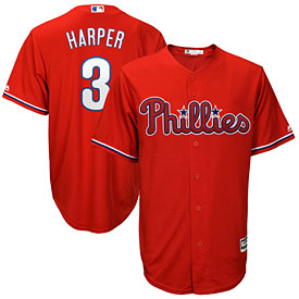 Philadelphia Phillies Bryce Harper Alt Red Cool Base Replica Jersey