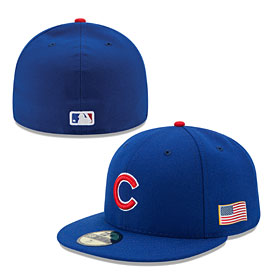 Chicago Cubs Authentic Game Performance 59FIFTY On-Field Cap w/US Flag Patch