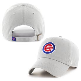Chicago Cubs Bullseye Gray Clean Up Adjustable Cap