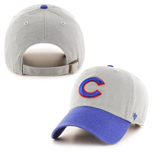 Chicago Cubs Royal and Grey Clean Up Adjustable Cap