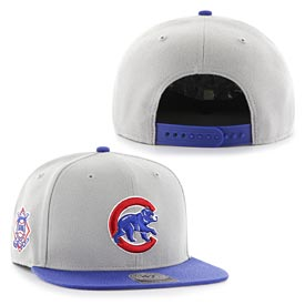 Chicago Cubs Walking Bear Grey Two Tone Snapback  Adjustable Cap