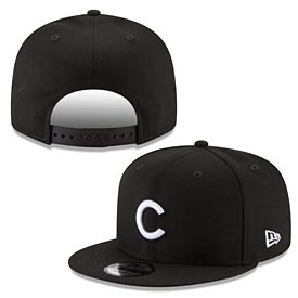 Chicago Cubs Black Basic Logo Snapback Cap