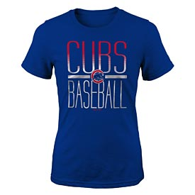 Chicago Cubs Youth Girls Silver Lining Tee