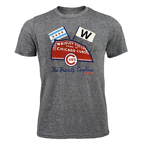 Chicago Cubs Heather Triblend Tee Shirt