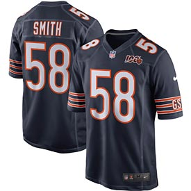 Chicago Bears Roquan Smith 100 Yr Team Jersey