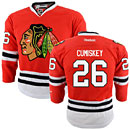Chicago Blackhawks Kyle Cumiskey Youth Red Premier Jersey w/ Authentic Lettering