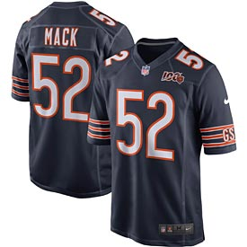 Chicago Bears Khalil Mack 100 Yr Team Jersey