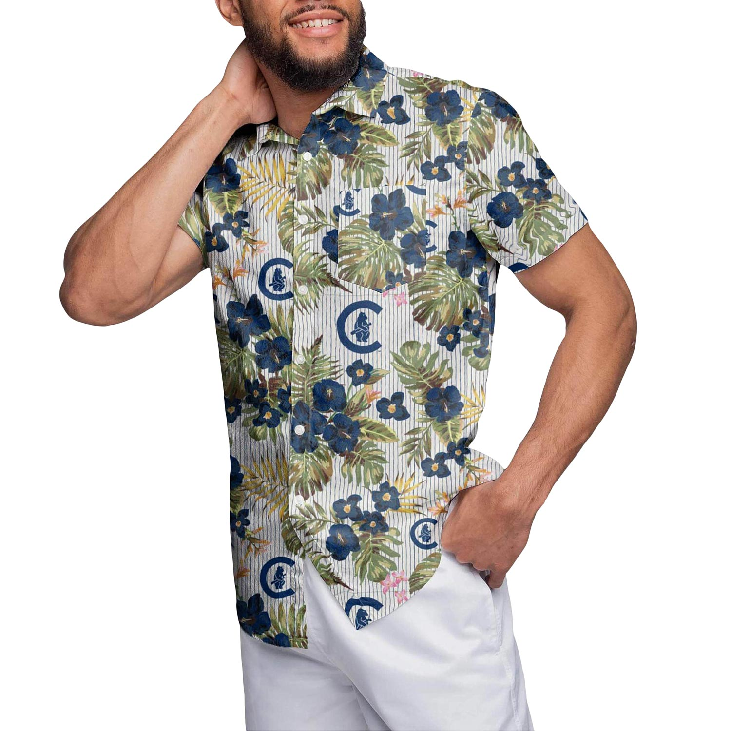 Chicago Cubs Floral Cooperstown Print Shirt