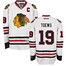Chicago Blackhawks Jonathan Toews White Premier Jersey w/ Authentic Lettering
