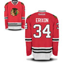 Chicago Blackhawks Tim Erixon Youth Red Premier Jersey w/ Authentic Lettering