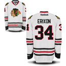 Chicago Blackhawks Tim Erixon White Premier Jersey w/ Authentic Lettering