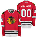 Chicago Blackhawks Customized Red Premier Jersey w/ Authentic Lettering