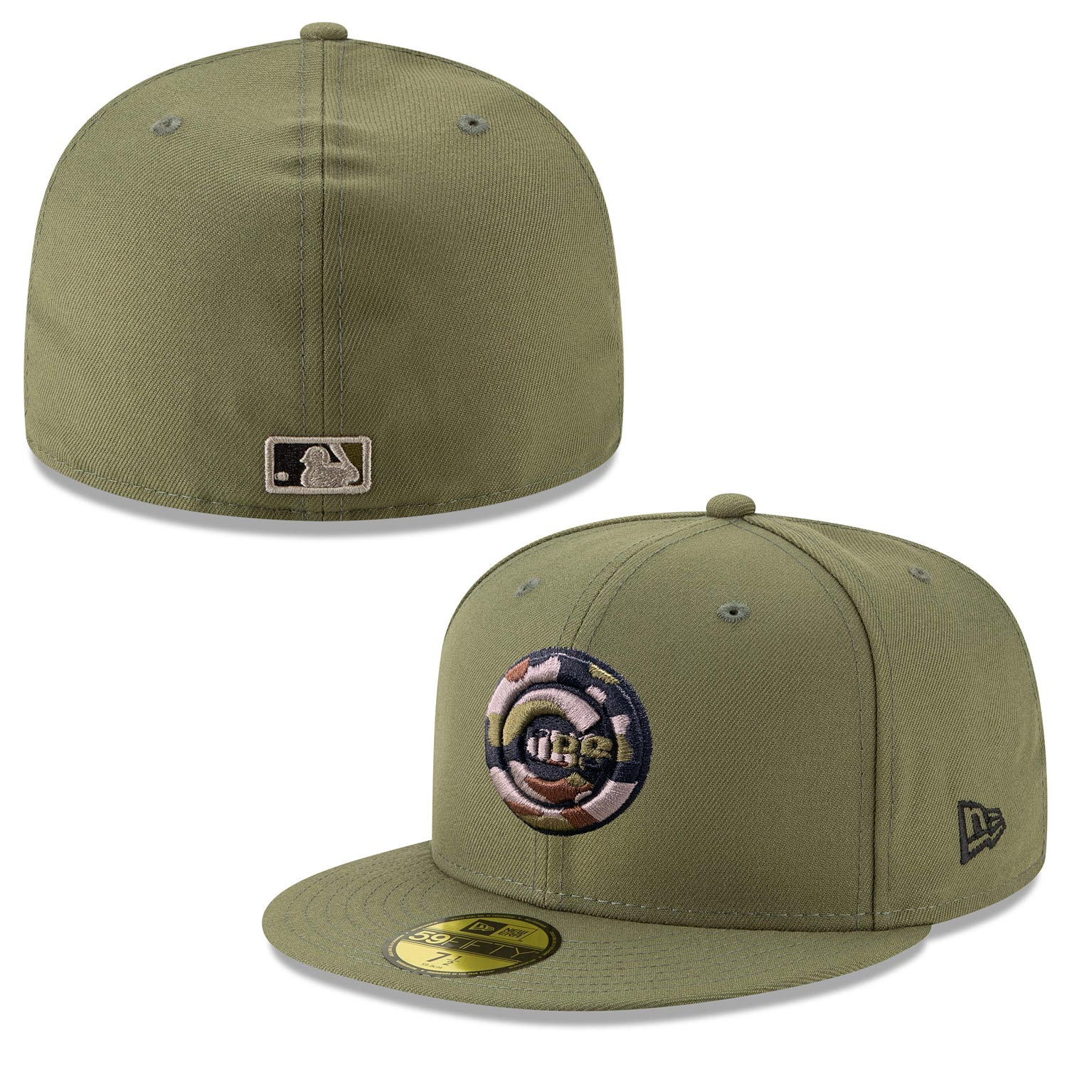 Chicago Cubs Camo Bullseye Camo 59/50 Fitted Hat