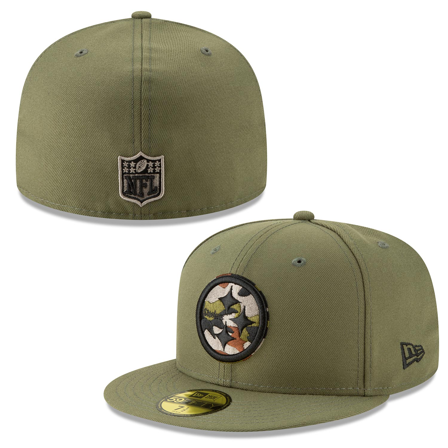 Pittsburgh Steelers Camo Trim 59/50 Fitted Cap