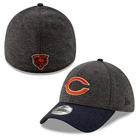 597e2fc28feef0 Chicago Bears Two-Tone Shaded 39Thirty Flex Fit Cap
