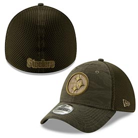 Pittsburgh Steelers Camo Fronted 39Thirty Flex Fit Cap