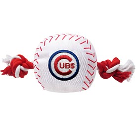 Chicago Cubs Nylon Ball With Rope Dog Toy