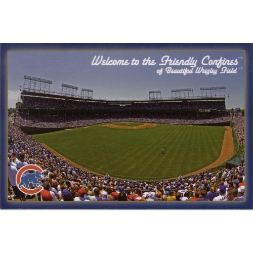 Wrigley Field Friendly Confines Post Card