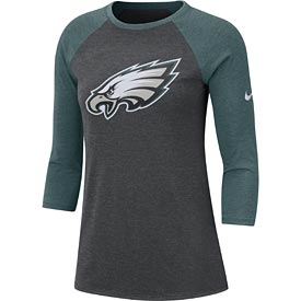 Philadelphia Eagles Ladies Nike Primary L/S Raglan Tee