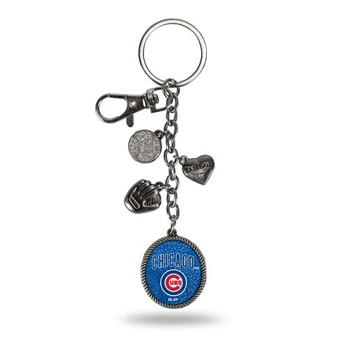 Chicago Cubs Logo Charm Keychain