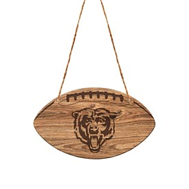Chicago Bears Logo Laser Engraved Wood