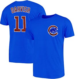 Chicago Cubs Royal Yu Darvish Name and Number Tee