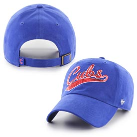 Chicago Cubs Ladies Sparkle Swoop Adj Cap