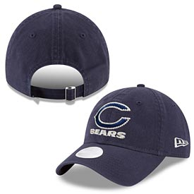 Chicago Bears Ladies Logo Beam Bear Head 920 Adjustable Cap